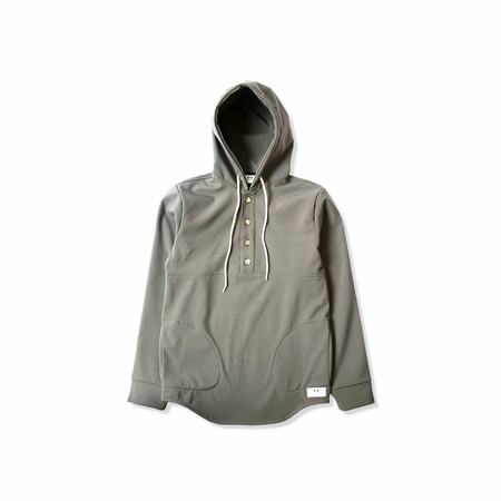 Unisex Muttonhead CHANDAIL À CAPUCHON IMPERMÉABLE CHARCOAL / CHARCOAL WATERPROOF RAIN CAMPING HOODIE