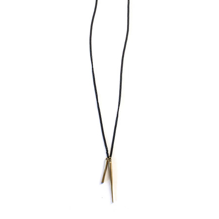 K/LLER COLLECTION Twist Bar / Spike Charm Necklace