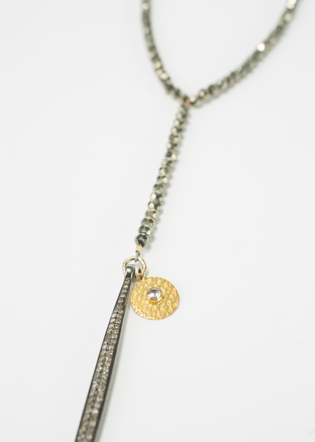 Jewels by Piper Pyrite Necklace with Diamond Spike