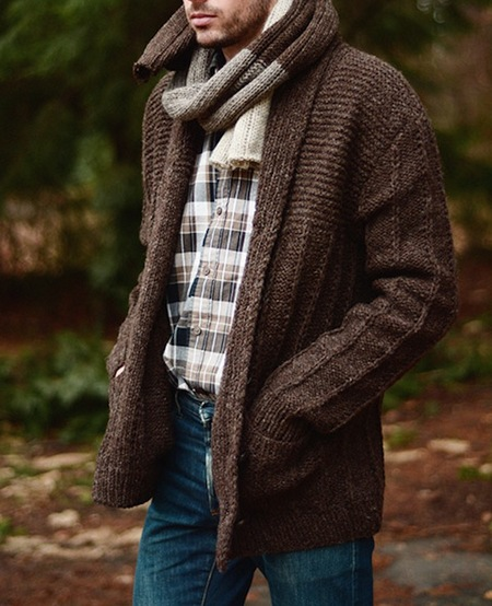Men's Cécile Benac Shawl Collar Sweater
