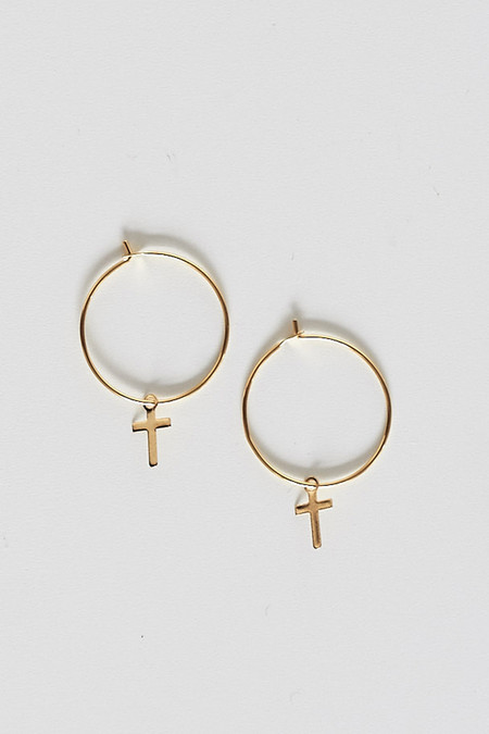 Sorelle Teresa Cross Hoops