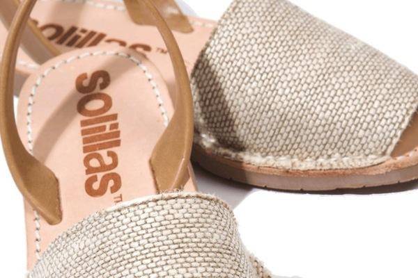 Solillas Natural Textura Sandals