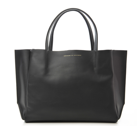 Ampersand as Apostrophe Black Stiff Sideways Tote