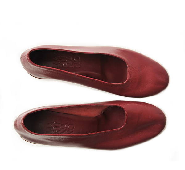 Martiniano Burgundy High Glove Shoe