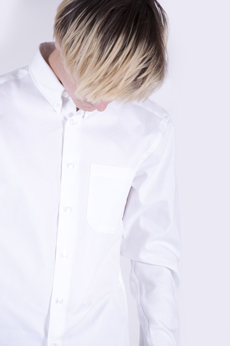Naked & Famous Regular Shirt White Oxford