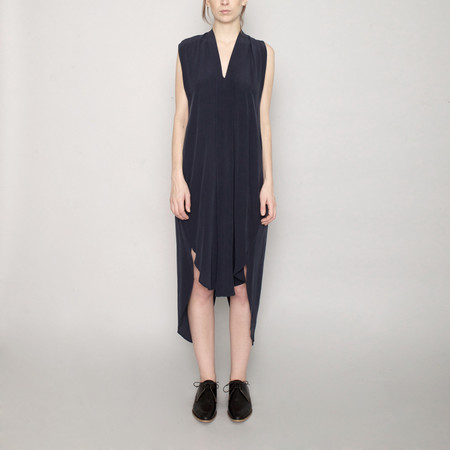 7115 by Szeki Signature Origami Silk Dress-Navy