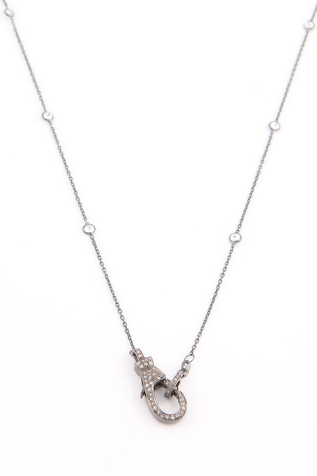 Nickho Rey Diamond Clasp Necklace