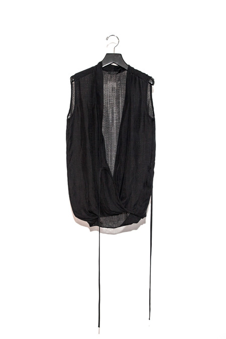 KES Sleeveless Kimono Wrap Top