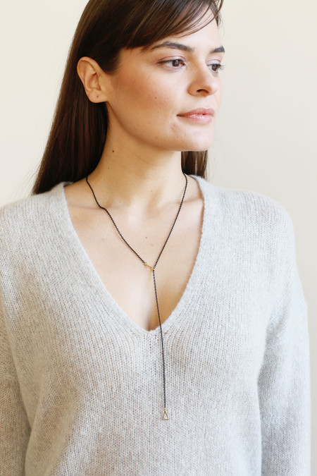 K/LLER COLLECTION Petite Triangle Lariat Necklace
