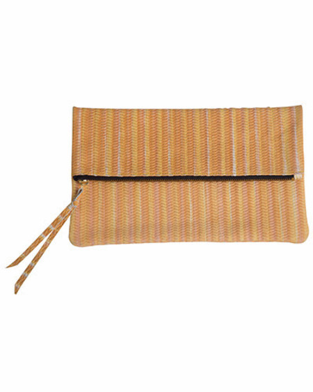 Oliveve anastasia in marigold woven cow leather