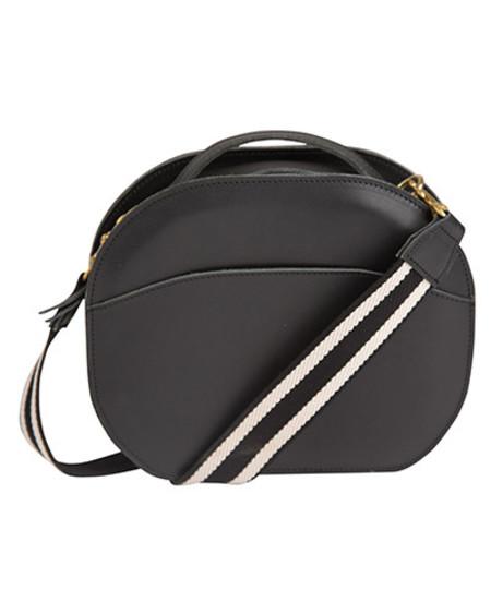 Oliveve nina canteen bag in black saddle leather