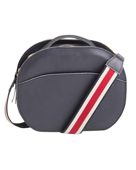 Oliveve nina canteen bag in navy saddle leather