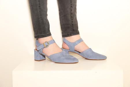 Intentionally Blank CRYSTAL Suede Denim Blue