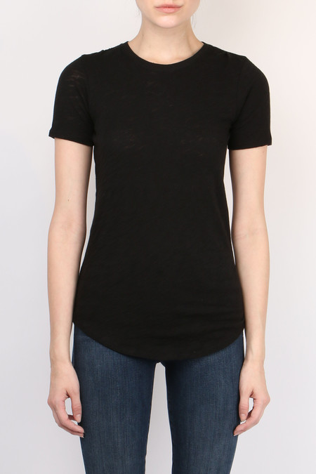 ATM Slub Crew Neck Tee in Black