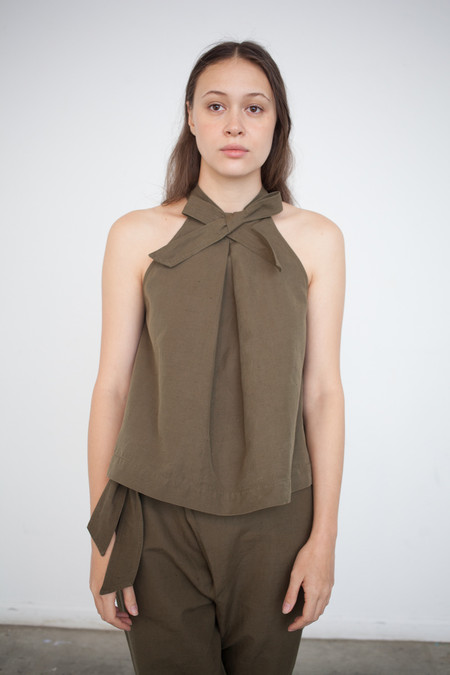 Ulla Johnson Mako Top in Olive