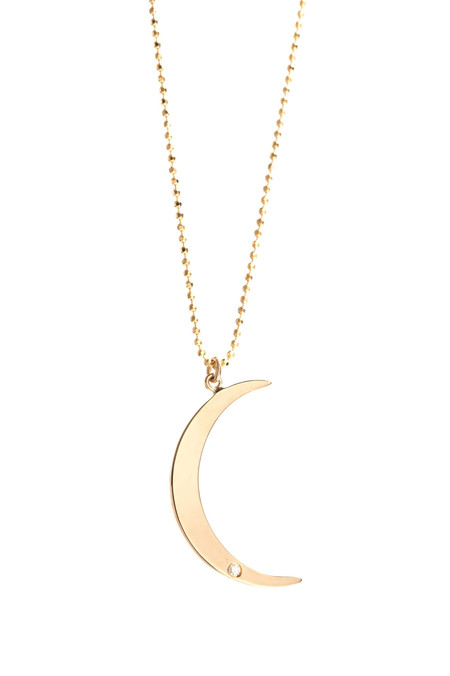 Ariel Gordon Crescent Moon Pendant Necklace