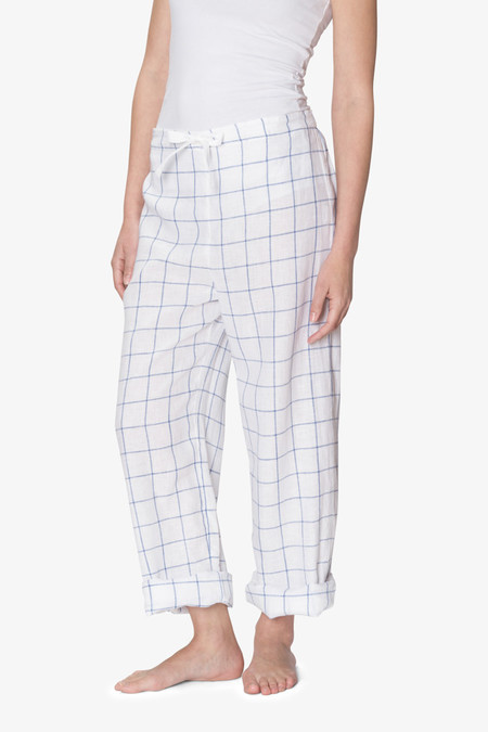 The Sleep Shirt Lounge Pant Blue Looklin Linen