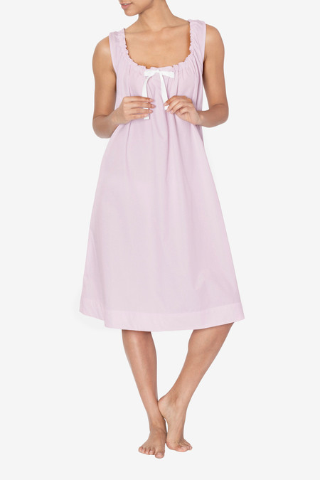 The Sleep Shirt Sleeveless Nightie Pink Skinny Stripe