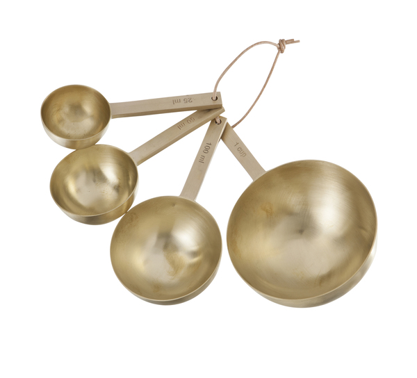 Ferm Living Set Of Large Brass Measuring Spoons