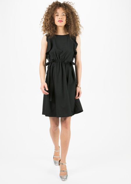 Amelia Toro Sleeveless Ruffle Shoulder Dress