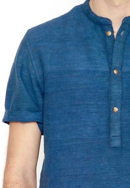 Indigo Khadi Popover Shirt