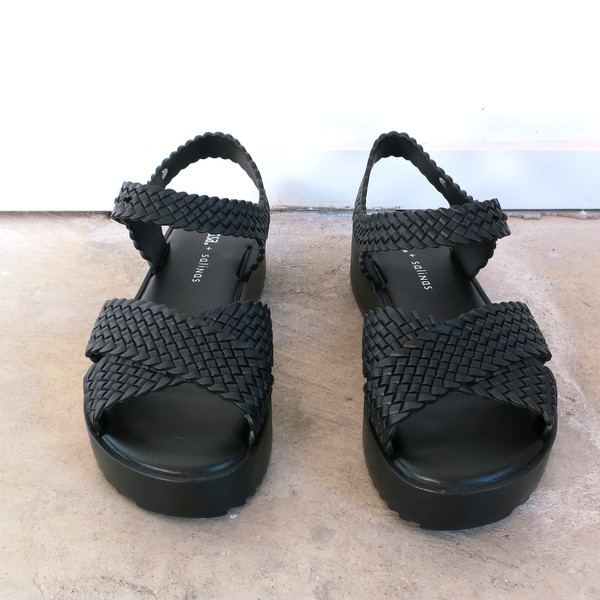 Melissa Hotness + Salinas Sandals in Black