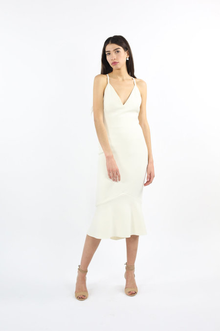 Bec & Bridge Gardenia Plunge Dress - Ivory