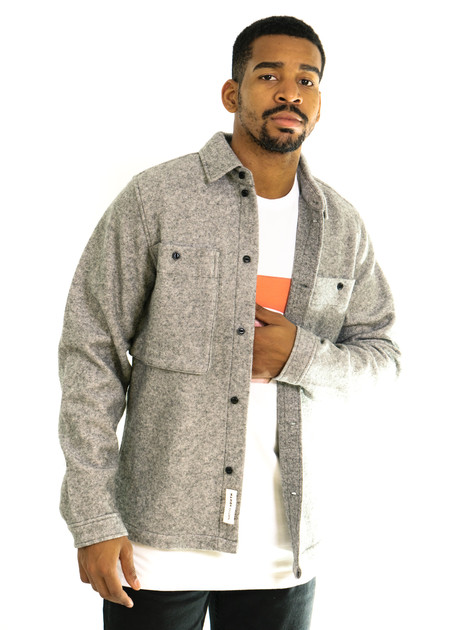 Native Youth Norite Shirt Jacket - Grey