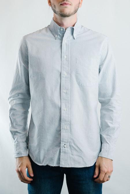 Men's Gitman Vintage Oxford Shirt - Grey Stripe