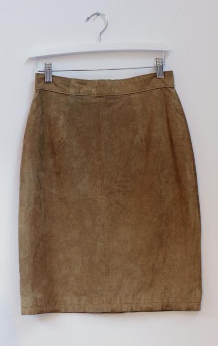 Hey Jude Vintage Tawny Suede Skirt