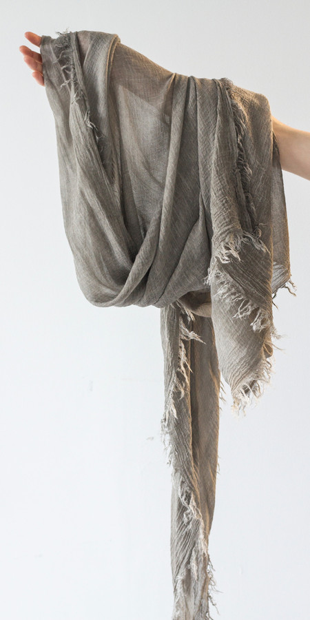 SCHAI Cold Dyed Frayed Shawl