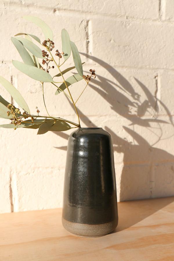 Myrth Pilar Vase in Black