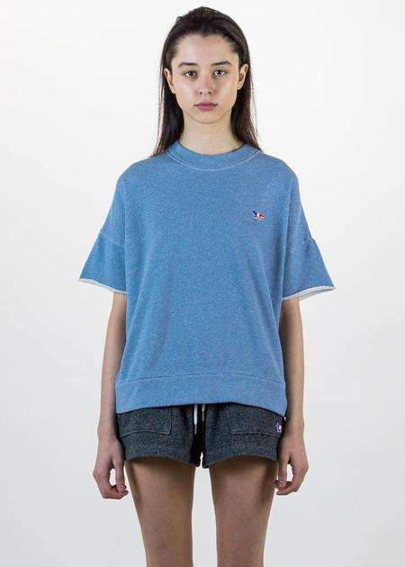 Maison Kitsune Japanese Short Sleeve Sweatshirt