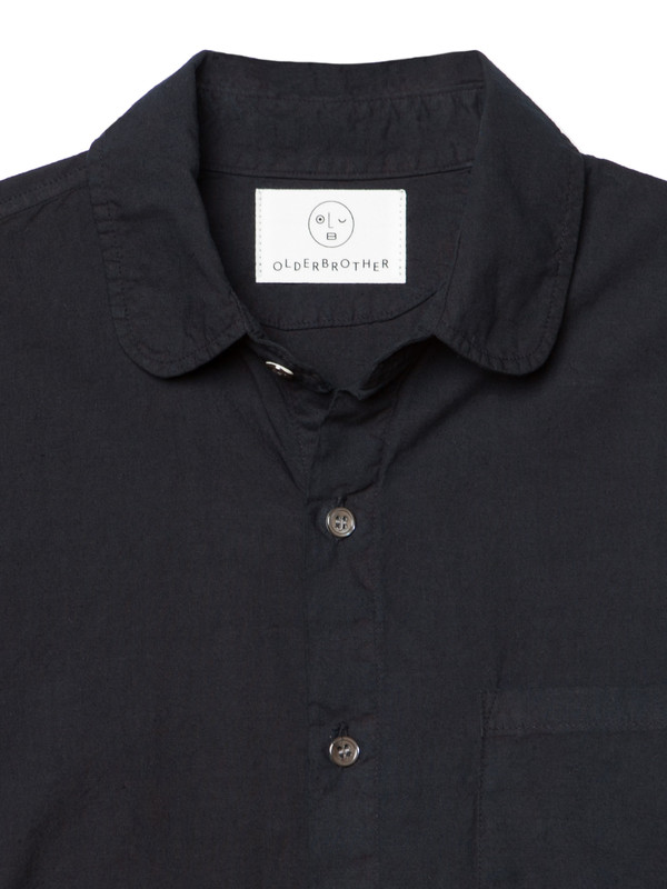 Olderbrother Hemp Button Down - Black Indigo