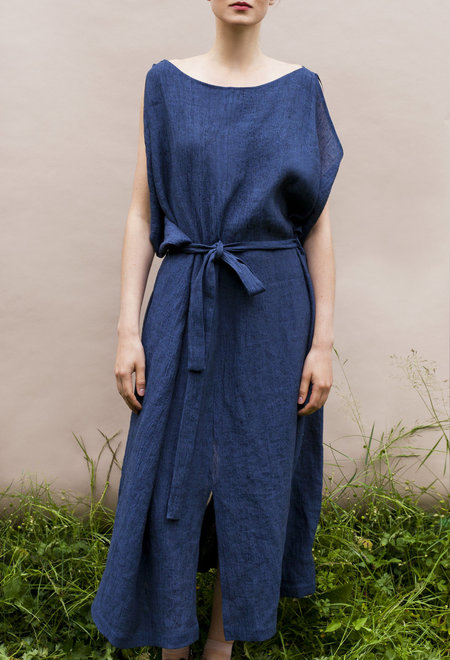 Sunja Link draped linen dress