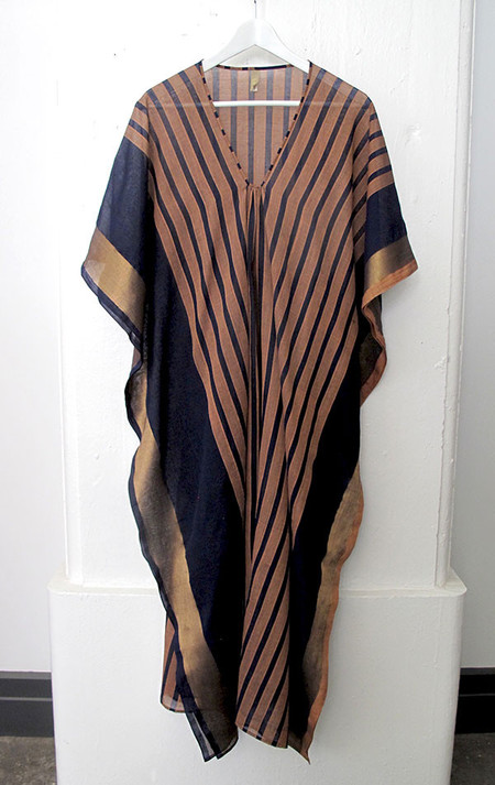Two Striped peach and navy caftan