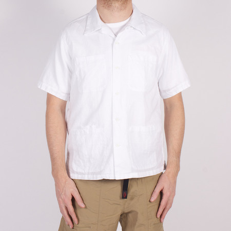 Battenwear Five Pocket Island Shirt - White Linen/Cotton