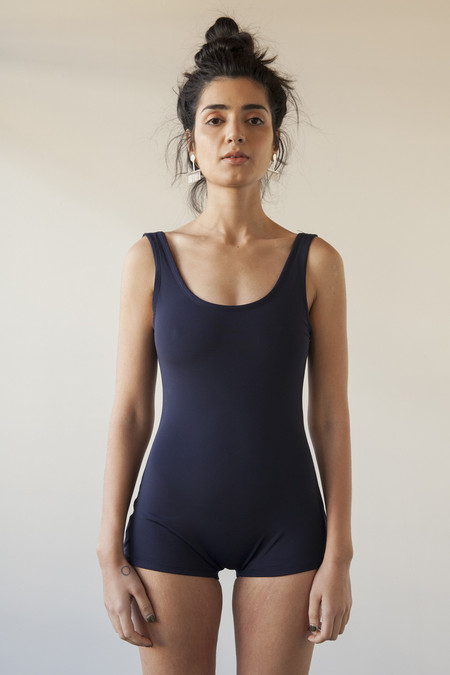 SUNJA LINK SWIMSUIT NAVY