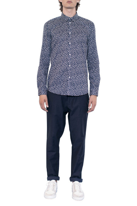 Journal Brit Liberty Wave Shirt - Navy