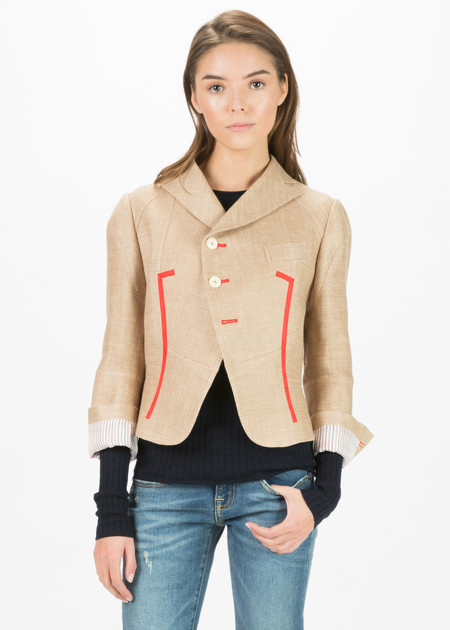 Shiro Sakai Cropped Bell Jacket