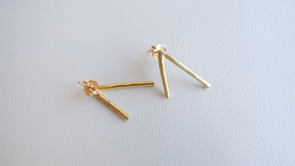 Another Feather Dart Earrings - Gold