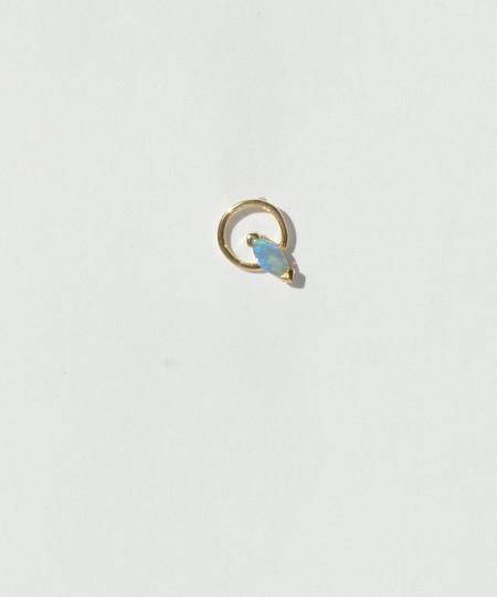Wwake Small Marquise Opal Circle Earring