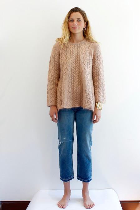Ryan Roche Cashmere Ruffle Sweater
