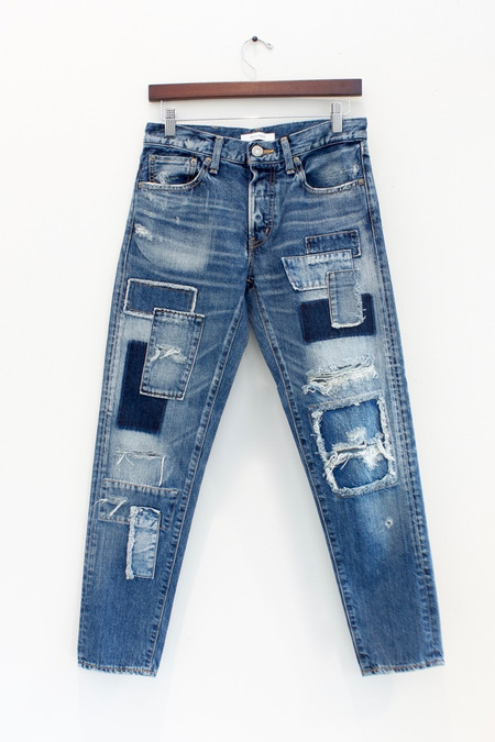 Moussy Patched Tapered Jean