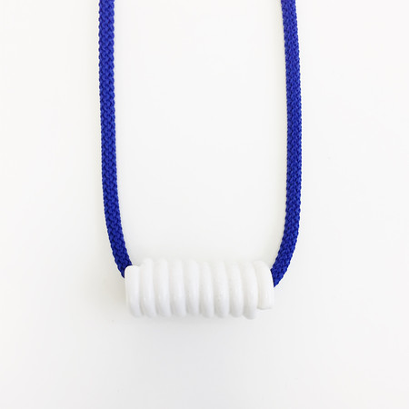 Aubrey Hornor Blue Cord Coil Necklace
