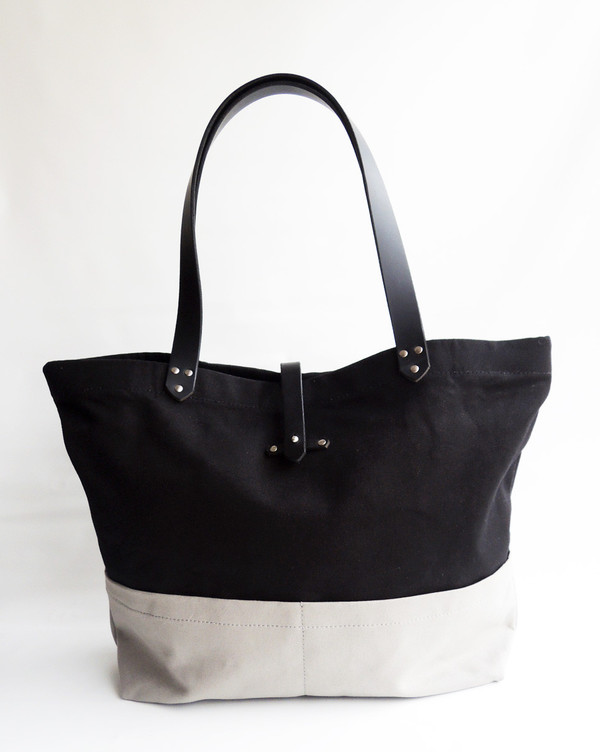 The Stowe Market Tote Blk/Grey