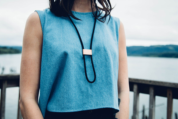 REIFhaus INFINITY BOLO NECKLACE