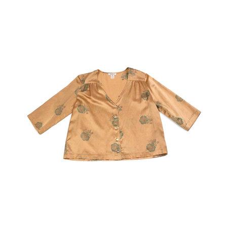 Horses Atelier V-Neck Button Front Blouse