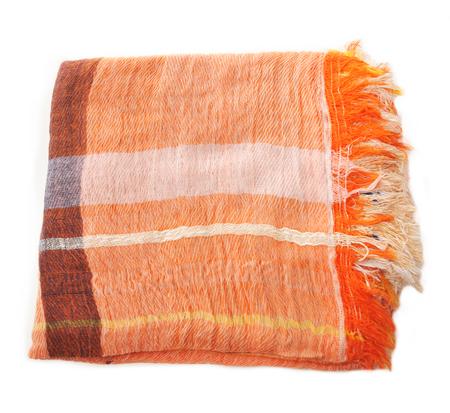 Tamaki Niime Orange Cotton Woven Shawl