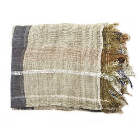 Tamaki Niime Olive Cotton Woven Shawl